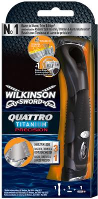 Wilkinson Sword Precision Edelstahl Trimmer + 1 Blade