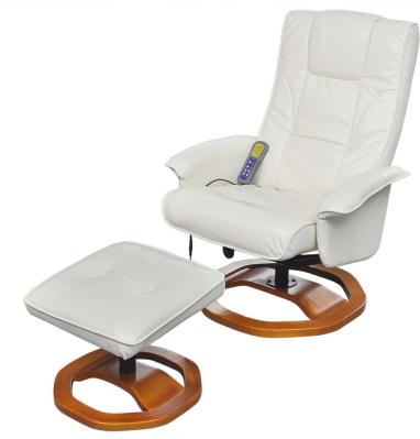 VidaXL Elektrisk massasjestol med fotskammel