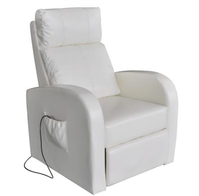 VidaXL Elektrisk massasjestol i kunstigskinn