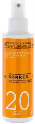Korres Yoghurt Sunscreen Face & Body SPF20 150ml