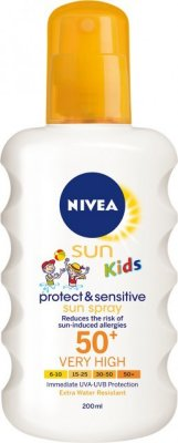 Nivea Protect & Sensitive Kids Spray SPF50+ 200ml