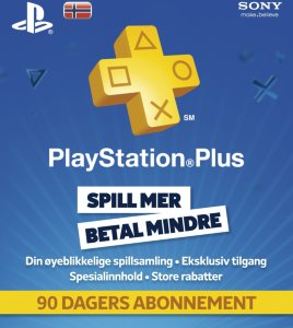 Sony PSN Plus 3 måneder