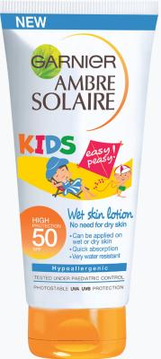 Garnier Ambre Solaire Wet-Skin Lotion Kids SPF50 150ml