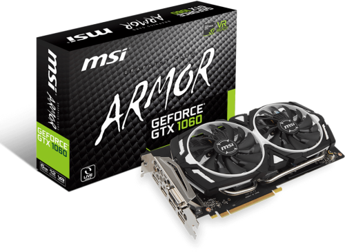 MSI GeForce GTX 1060 Armor 6G