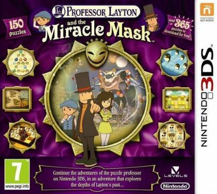 Professor Layton and the Miracle Mask til 3DS