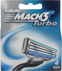Gillette Mach3 Turbo 4 stk