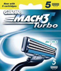 Gillette Mach3 Turbo 5 stk