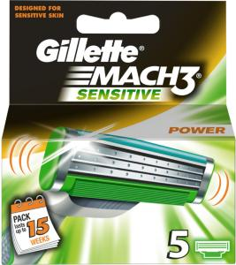 Gillette Mach3 Sensitive Power 5 Stk