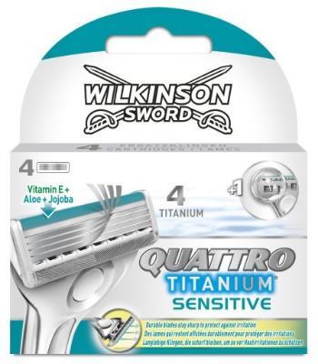 Wilkinson Sword Quattro Titanium Sensitive 4 Stk