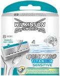 Wilkinson Sword Quattro Titanium Sensitive 8 stk