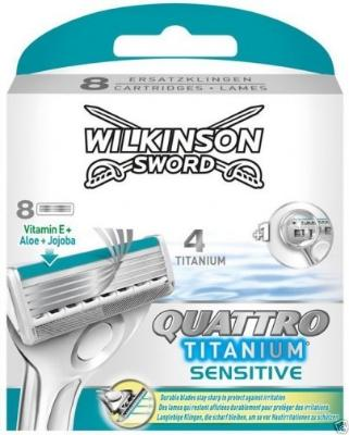 Wilkinson Sword Quattro Titanium Sensitive 8 stk