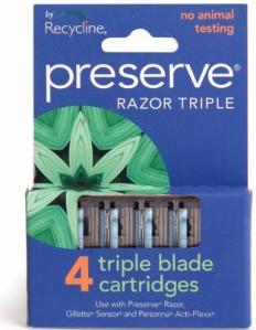 Preserve Razor Triple 4 Stk