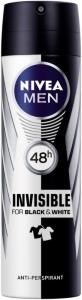 Nivea Men Invisible Black & White Deodorant Spray 150ml