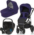Britax Smile 2 Duovogn + Britax Baby Safe Plus SHR II Bilsete og Liggedel