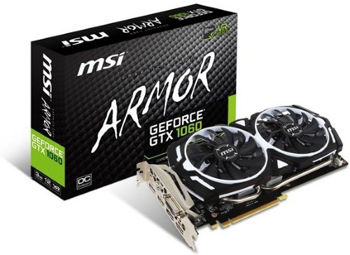 MSI GeForce GTX 1060 ARMOR OC 3GB