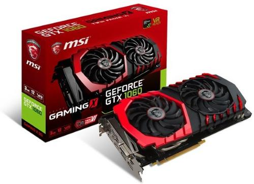 MSI GeForce GTX1060 GAMING X 3G