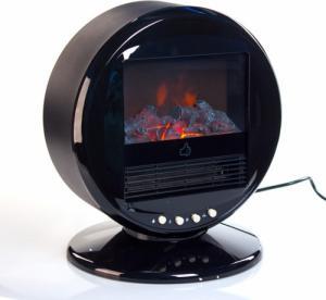 Elektrisk peis i rund form