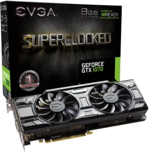 EVGA GeForce GTX 1070 SC Gaming ACX 3.0 Black Edition