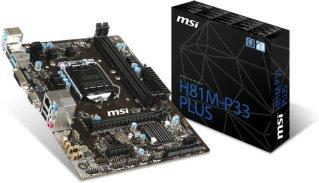 MSI H81M-P33 Plus