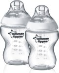 Tommee Tippee Transparent 2-Pack Tåteflasker 260ml