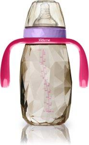 Kidsme Diamond Wide Neck Tåteflaske med håndtak 300ml