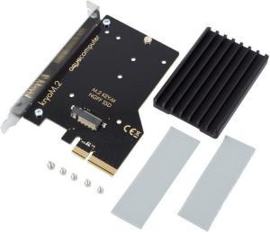 AquaComputer Kryo M.2 PCIe 3.0 M.2 NGFF PCIe SSD Cooling Heatsink