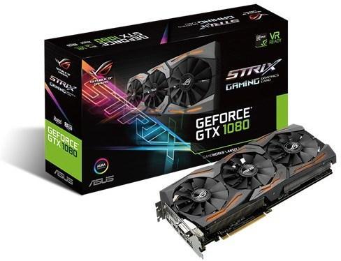 Asus GeForce GTX 1080 Strix Gaming OC (A8G)