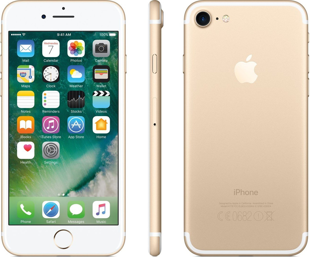 iPhone 7 32 GB (gull) Mobiltelefon Elkjøp