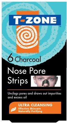 T-zone Charcoal Nesestrips 6 Stk