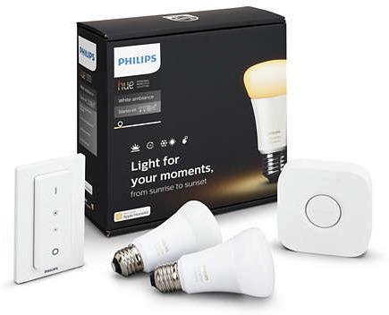 Philips Hue A60 E27 Startpakke White (2 lyspærer)