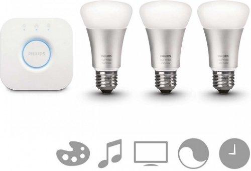 Philips Hue A60 E27 Startpakke White (3 lyspærer)