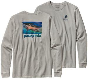 Patagonia L/S World Trout Slurped Cotton (Herre)
