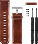 Garmin Brown Leather Watch Band (010-12168-12)