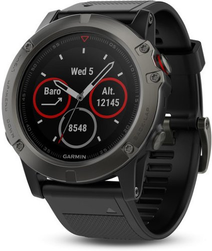 Garmin Fenix 5X Slate Gray Sapphire with Black Band (010-01733-01)
