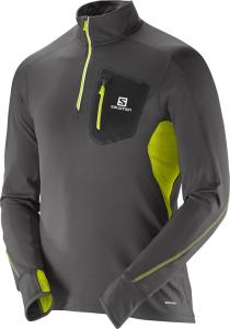 Salomon Trail Runner Warm LS Zip Tee (Herre)