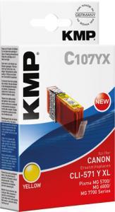 Canon CLI-571XL Gul (Erstatter)