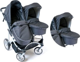 Basson Baby Duo Søskenvogn + Bag
