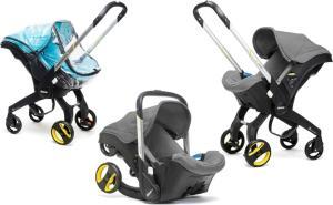 Doona+ Babybilstol med Integrert Vogn + Regntrekk