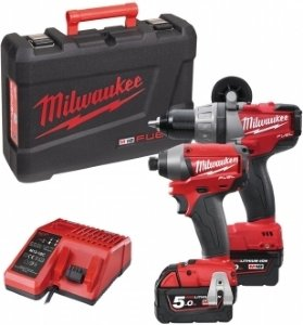 Milwaukee M18 PP2A-502C Verktøysett (M18 CPD + M18 CID)
