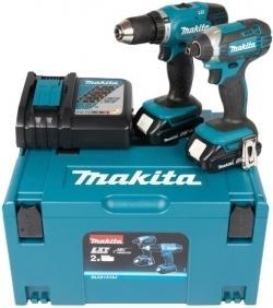Makita DLX2141AJ Verktøysett (DDF453+DTD152)