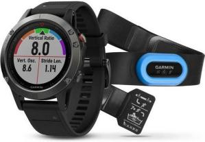 Garmin Fenix 5 Slate Gray with Black Band, Performer Bundle (010-01688-30)