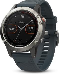 Garmin Fenix 5 Silver with Granite Blue Band (010-01688-01)