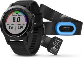 Garmin Fenix 5 Black Sapphire with Black Band, Performer Bundle (010-01688-32)