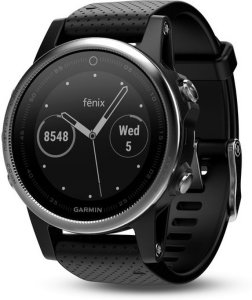 Garmin Fenix 5S Silver with Black Band (010-01685-02)