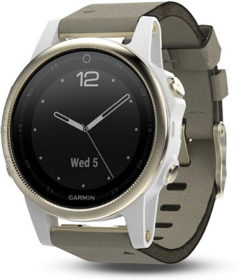 Garmin Fenix 5S Champagne Sapphire with Gray Suede Band (010-01685-13)