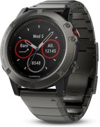Garmin Fenix 5X Slate Gray Sapphire with Metal Band (010-01733-03)