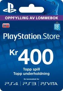 Playstation Network Prepaid 400 Kr