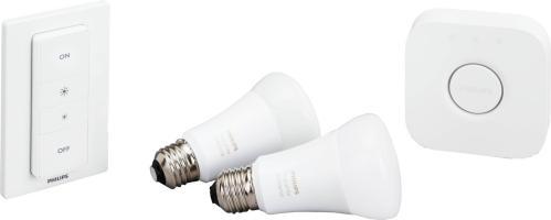 Philips Hue E27 Startpakke White m/Dimmer