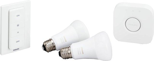 Philips Hue White Ambiance Startpakke E27 2pk med dimmer