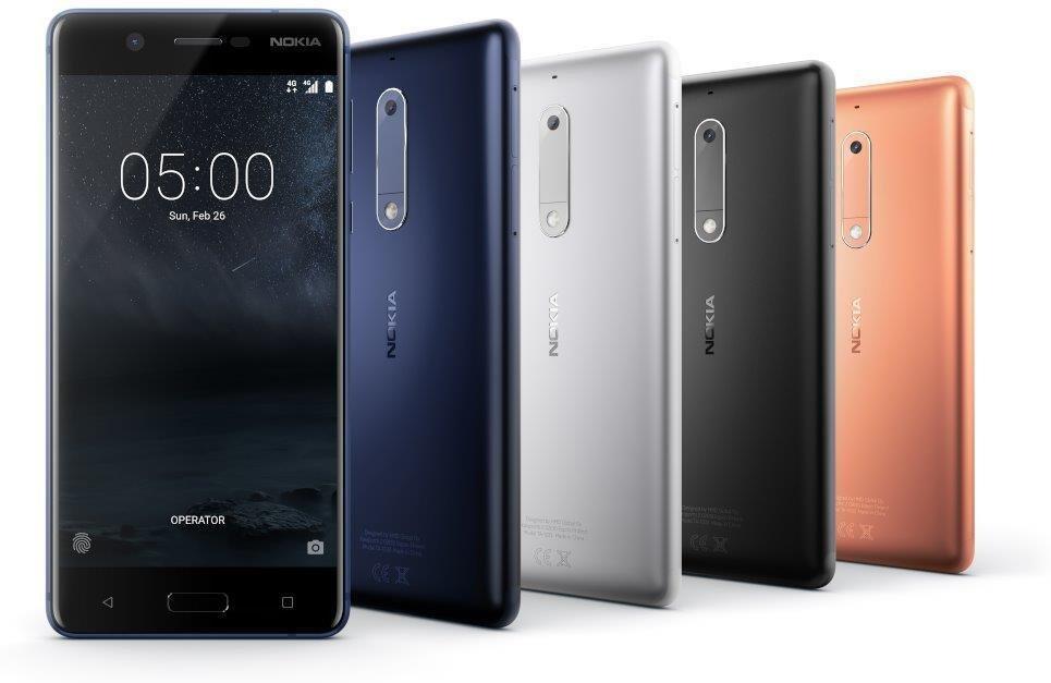 Nokia 5 smarttelefon (sølv) Mobiltelefon Elkjøp